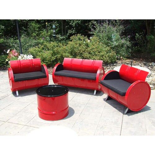 Our Red Loft Steel Drum 4 Piece Conversation Set with Black Accents is on sale now.