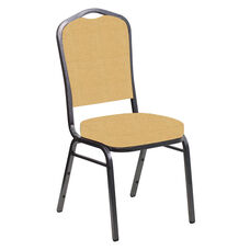Crown Back Banquet Chair in Neptune Dune Fabric - Silver Vein Frame