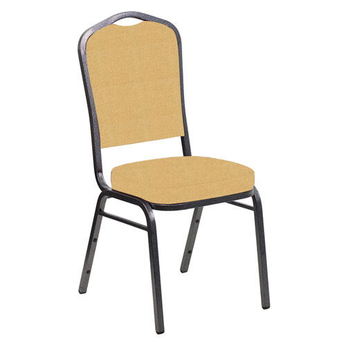 Our Embroidered Crown Back Banquet Chair in Neptune Dune Fabric - Silver Vein Frame is on sale now.