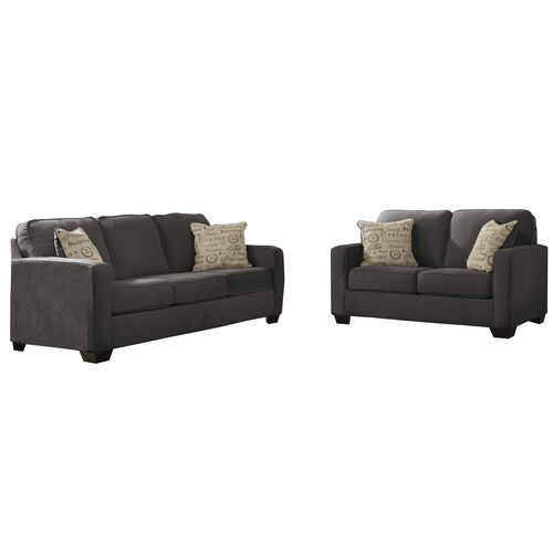 Our Signature Design by Ashley Alenya Living Room Set in Charcoal Microfiber is on sale now.