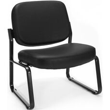 Big & Tall Guest and Reception Vinyl Chair - Black