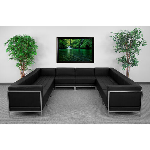 Our HERCULES Imagination Series Black LeatherSoft U-Shape Sectional Configuration, 10 Pieces is on sale now.
