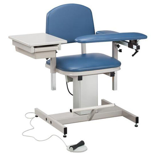Our Hands Free Adjustable Power Series Blood Drawing Chair with Padded Flip Arm and Drawer is on sale now.