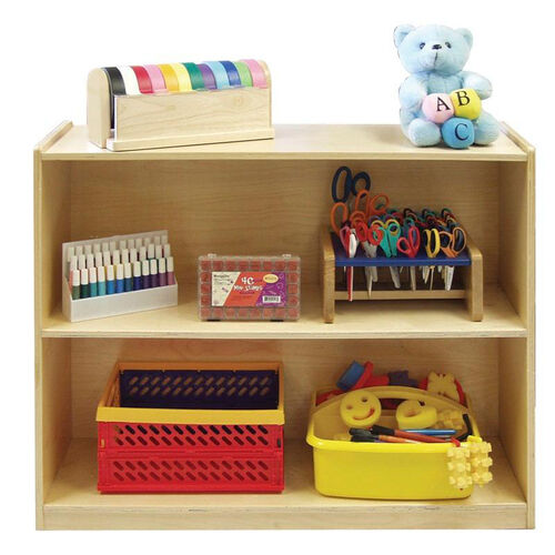 Our Birch Hardwood Two Shelf Storage Cabinet with Back - 36
