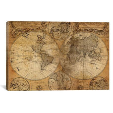 Vintage Map by GraphINC Studio Gallery Wrapped Canvas Artwork