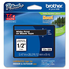 Brother Black on Red Label Tape - 0.94
