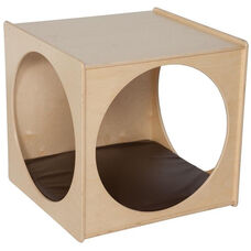 Contender Wooden Imagination Cube with Brown Cushion - Unassembled - 29