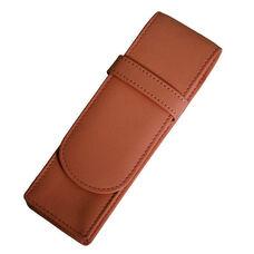 Two Slot Pen Case - Top Grain Nappa Leather - Tan