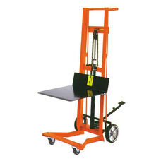 Four-Wheeled Hydraulic Steel Framed Pedal Lift With Platform Lifter