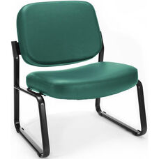 Big & Tall Guest and Reception Vinyl Chair - Teal