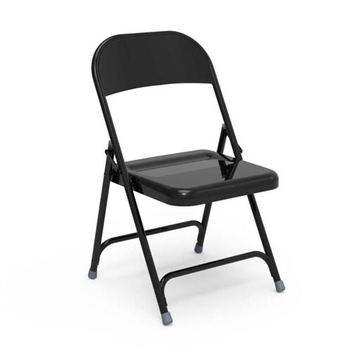 Our Quick Ship Multi-Purpose Steel Folding Chair with Black Finish - 17.75