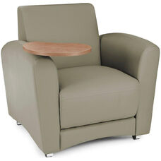 InterPlay Tablet Taupe Chair - Bronze Finish