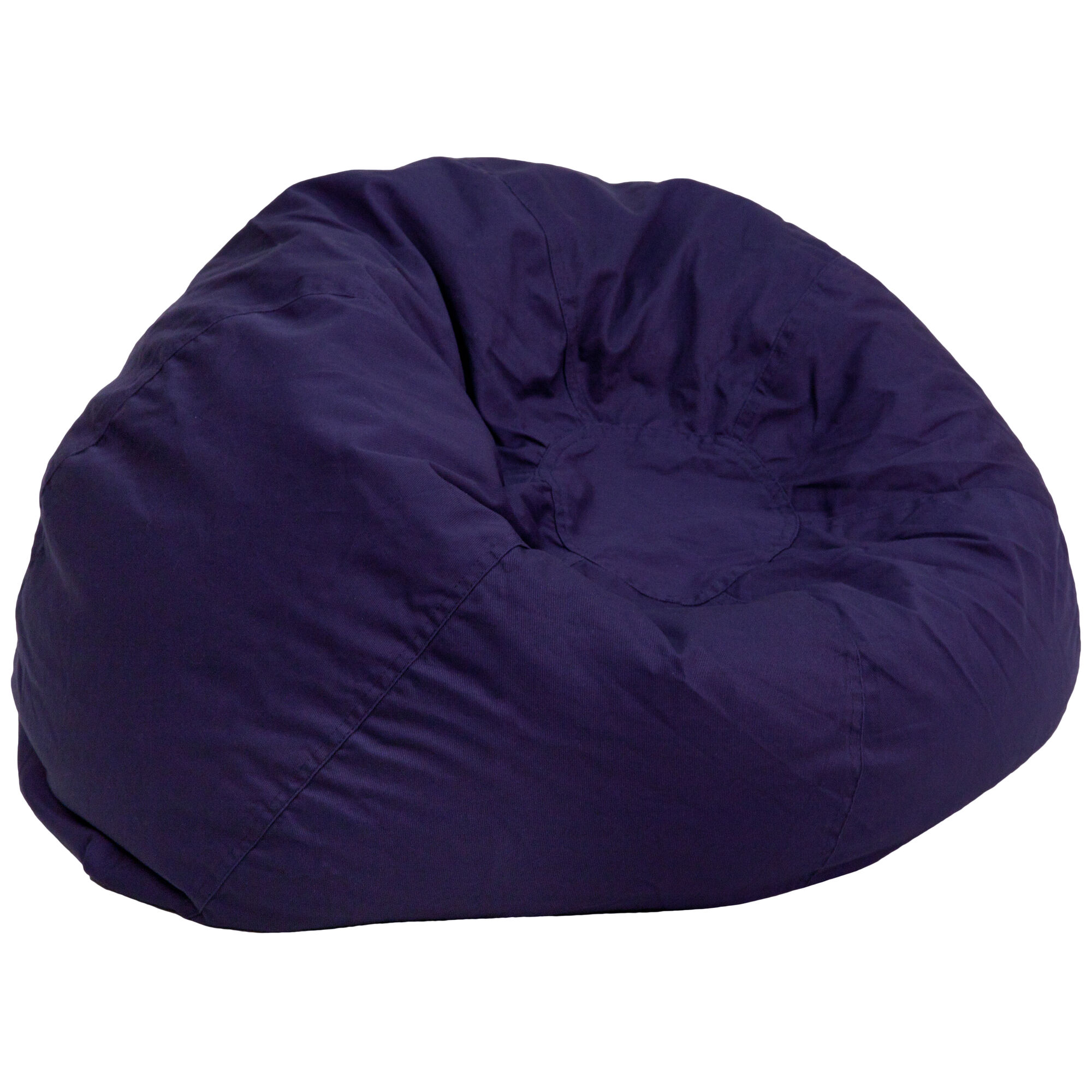 Phenomenal Oversized Solid Navy Blue Bean Bag Chair For Kids And Adults Caraccident5 Cool Chair Designs And Ideas Caraccident5Info