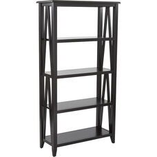 OSP Designs Santa Cruz 5-Shelf Book Case - Black