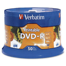 Verbatim Inkjet Printable 16X Dvd-R Spindle - Pack Of 50