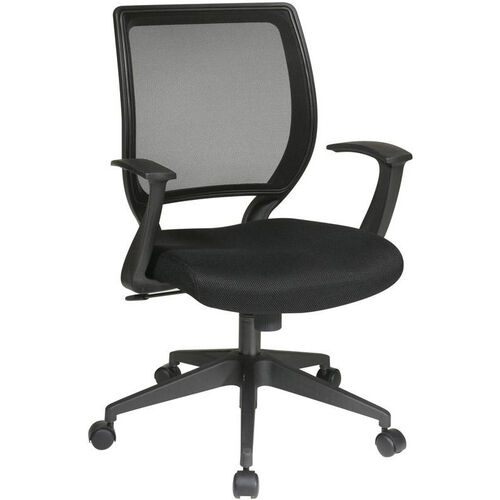 Our Work Smart Woven Mesh Back Task Chair with Dual Wheel Carpet Casters - Black is on sale now.