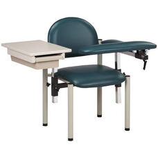 SC Series Padded Blood Drawing Chair with Padded Flip Arm and Drawer