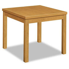 HON® Laminate Occasional Table - Square - 24w x 24d x 20h - Harvest