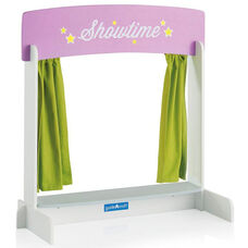 Showtime Tabletop Theater with Reversible Marquis Sign and Light Green Curtains - 24