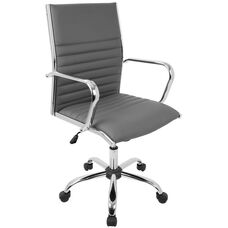 Master Contemporary Faux Leather Office Chair - Grey