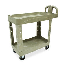 Rubbermaid Commercial Products Two-tiered Full Service Utility Cart - 17.8