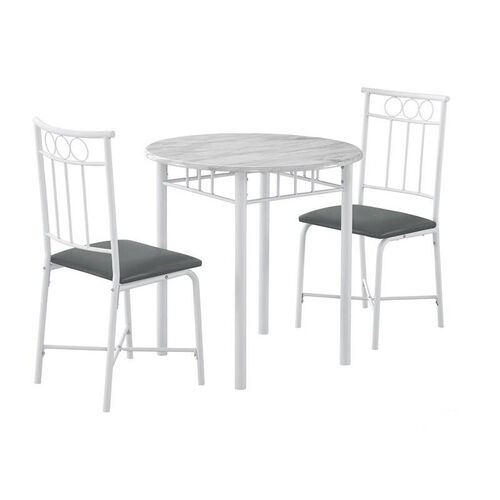 Our Space Saving 3 Piece Dining Set with Faux Marble Top - White is on sale now.