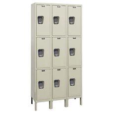 Quiet Stock Locker Three-Wide Triple-Tier Locker - Assembled - 36