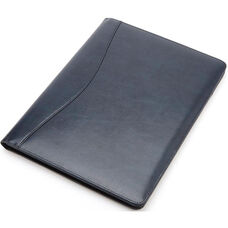 Writing Padfolio Document Organizer - Colorado Old Bonded Leather - Blue