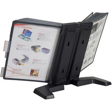 20 Panel Weighted Desktop Reference Organizer - Black