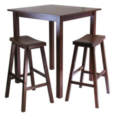 Parkland 3-Pc High Table Set with 2 Saddle Seat Stools