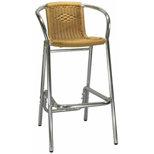 Our Honey Rattan Aluminum Patio Barstool Is On Sale Now