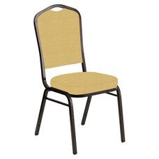 Crown Back Banquet Chair in Canterbury Taupe Fabric - Gold Vein Frame