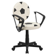 Soccer Swivel Task Office Chair with Arms