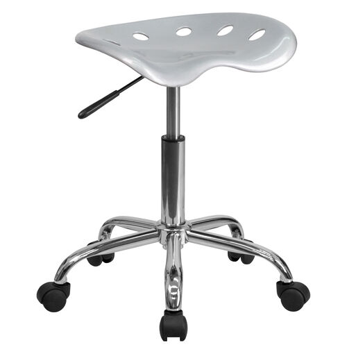 Our Vibrant Silver Tractor Seat and Chrome Stool is on sale now.