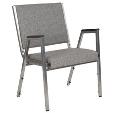 HERCULES Series 1500 lb. Rated Gray Antimicrobial Fabric Bariatric Medical Reception Arm Chair