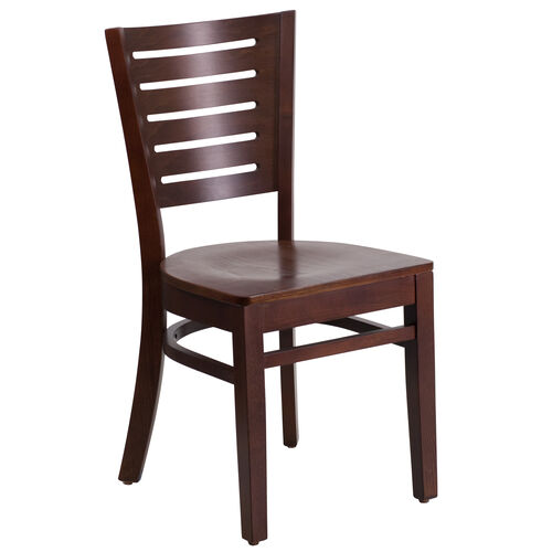 Our Walnut Finished Slat Back Wooden Restaurant Chair is on sale now.