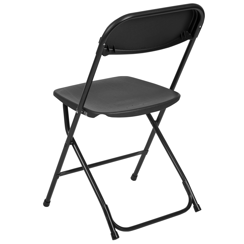 Delightful Flash Furniture HERCULES Series 800 Lb. Capacity Premium Black Plastic Folding  Chair LE L 3 BK GG | Bizchair.com