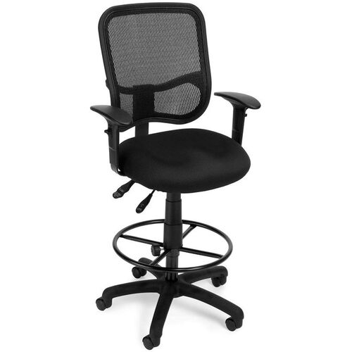 Our Mesh Comfort Ergonomic Task Chair with Arms and Drafting Kit - Black is on sale now.