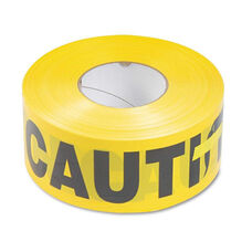 Tatco Caution Barricade Safety Tape - Yellow - 3w x 1000ft Roll