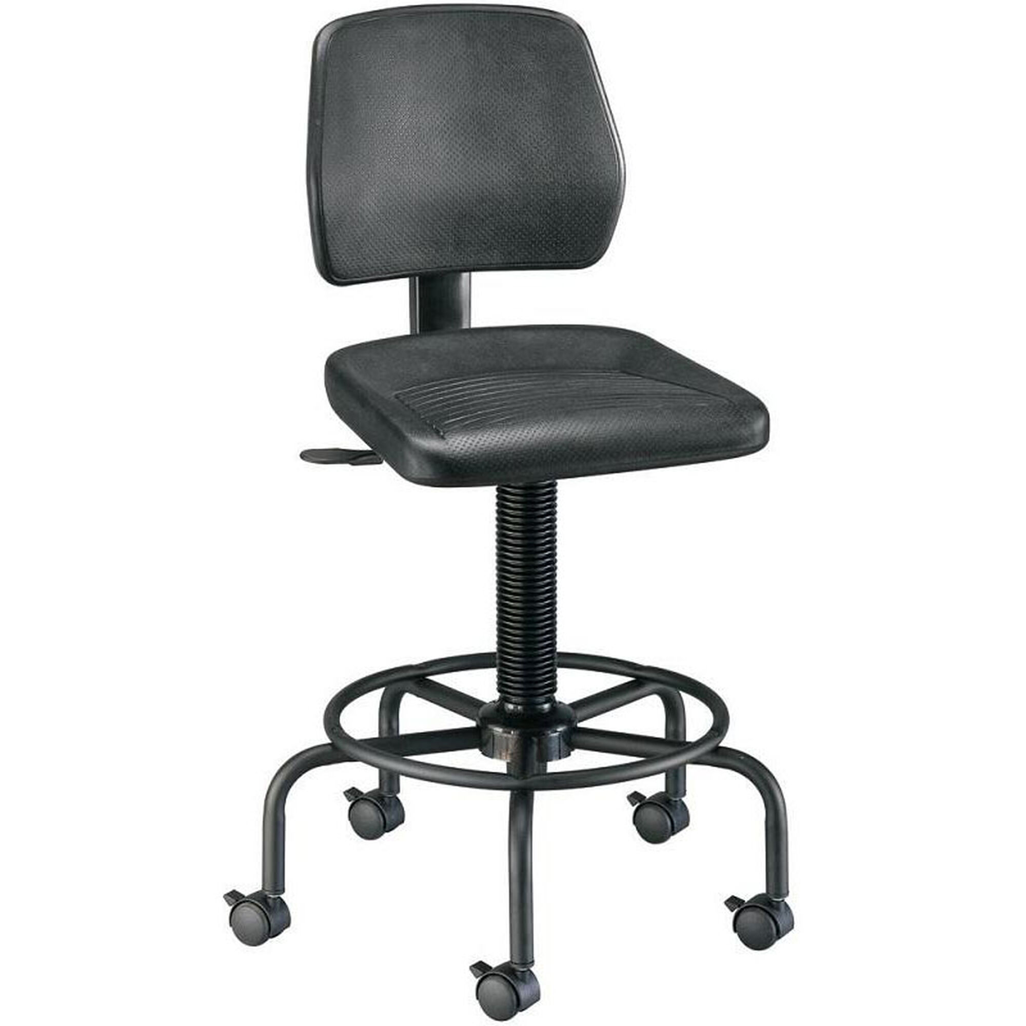 Our Adjustable Height Utility Stool With Backrest Black