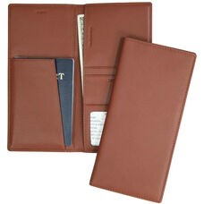 Passport and Ticket Holder- Top Grain Nappa Leather - Tan
