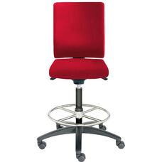 Adjust Tall Height Swivel Stool with Upholstered Outer Shell