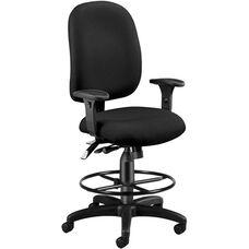 Ergonomic Task Chair With Drafting Kit - Black