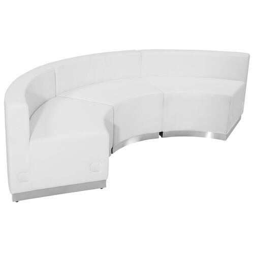 Our HERCULES Alon Series Melrose White Leather Reception Configuration, 3 Pieces is on sale now.