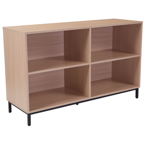 "Our Dudley 4 Shelf 29.5""H Open Bookcase Storage in Oak Wood Grain Finish is on sale now."
