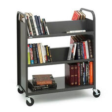 Double Sided Duro Book Truck with Combo Shelves - 36