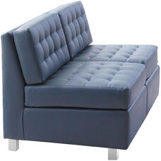 Quick Ship Himalaya Two-Seat Lounge Loveseat with Aluminum Legs