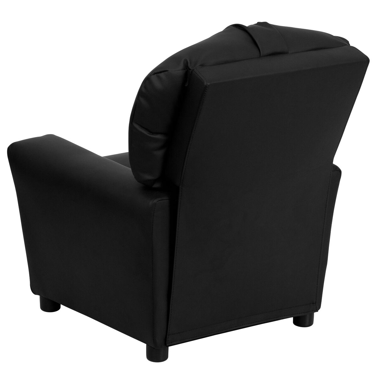 Tremendous Contemporary Black Leather Kids Recliner With Cup Holder Machost Co Dining Chair Design Ideas Machostcouk