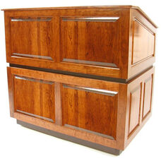 Ambassador Non-Sound Multimedia Lectern - Cherry Finish - 30