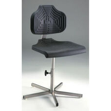 EDJ Stainless Steel Series Chair with Polyurethane Seat and Backrest and Manual Adjustments - Low Profile
